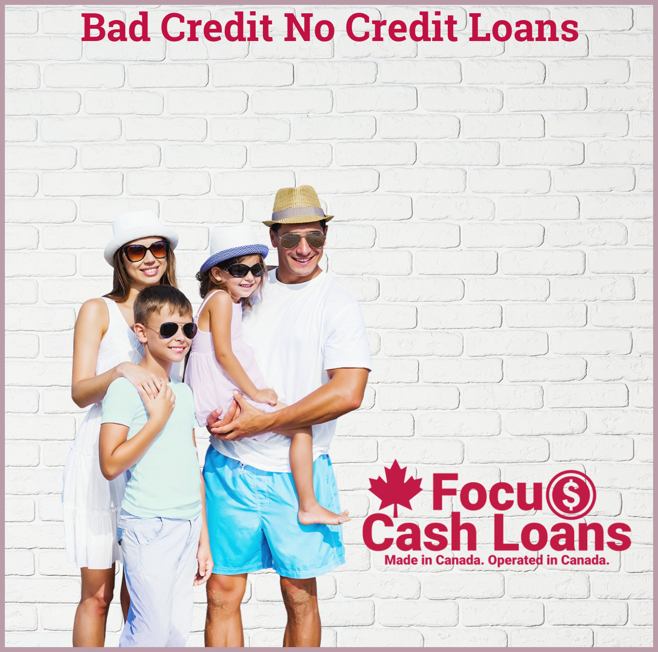 Picture of family that got Loans for People with Bad Credit Ratings